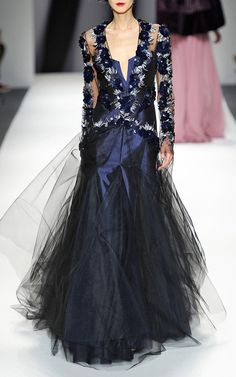 Floral Beading Brocade Evening Gown by Bibhu Mohapatra for Preorder on Moda Operandi