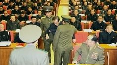A still image taken from North Korea's state-run television footage and released Monday shows Jang Song Thaek being forcibly removed by unif...