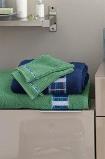 Toalha de banho Rythme indigo - 50 x 90 cm - Azul-marinho