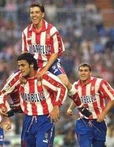 """Kiko, """"Juninho Paulista"""" Osvaldo Giroldo Júnior (Atlético Madrid, 1997–1999, 55 apps, 14 goals) and Vieri"""