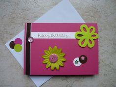 Carte double scrapbooking pour souhaiter un joyeux anniversaire!
