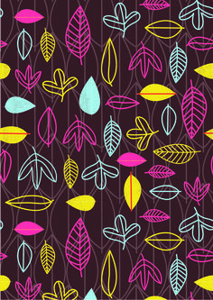 This is copyright Lisa Martin, a fab surface designer/art student(!). #color #pattern #fabric