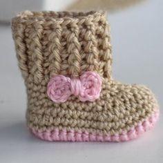 Handmade baby crochet newborn boots, booties | Mini Booties