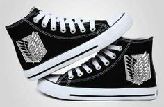 Attack on Titan converse. I love converse and now I love them even more.