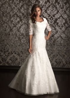 #Modest Lace #wedding dress by Allure Bridal