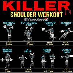 Killer back workout. For see more of bodybuilding images visit us on our website ! Killer Chest Workout, Killer Shoulder Workout, Best Chest Workout, Killer Workouts, Chest Workouts, Lower Chest Exercises, Bodybuilding Training, Bodybuilding Workouts, Men's Bodybuilding