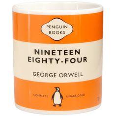 George Orwell 1984 Orange Penguin Mug