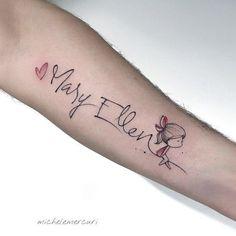 Unterarm namen tattoos frau Tattoo Ideen