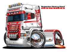 Used Trucks, Trucks And Girls, Big Trucks, Hot Wheels Storage, Caricature, Scania V8, Hot Rods, Truck Art, Cool Sports Cars