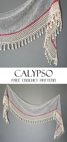 Calypso Shawl Free Crochet Pattern Calypso Shawl Free Crochet Pattern Best Picture For Crochet facile debutant For Your Taste You are looking for something, and. Poncho Au Crochet, Crochet Shawls And Wraps, Knitted Shawls, Love Crochet, Crochet Scarves, Crochet Clothes, Knit Crochet, Crochet Headbands, Freeform Crochet