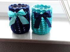 crochet jar cosies/ cozies