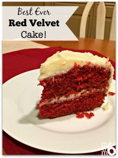 This rich, moist, flavorful red velvet cake is perfectly paired with a delicious fluffy cream cheese frosting! Is it any wonder that my kids request it as their birthday cake?!