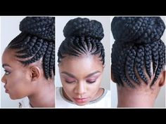 Jumbo Cornrows [Video] - http://community.blackhairinformation.com/video-gallery/braids-and-twists-videos/jumbo-cornrows-video/