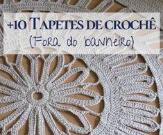 DIY: Bolsa de crochê #1 ⋆ De Frente Para O Mar Crochet Table Runner, Love Crochet, Crochet Doilies, Yarn Crafts, Paper Flowers, Free Pattern, Projects To Try, Crochet Patterns, Crafty