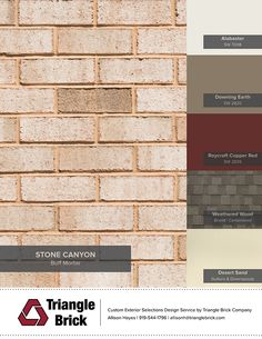 Front Porch Surface - Triangle Brick, Stone Canyon
