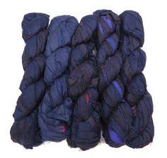 New! Premium Sari Silk Ribbon yarn , 100g (50 yards) color Amethyst