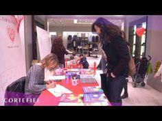 Araceli Segarra signs her childrens books The Adventures of Tina at Cortefiel. - YouTube