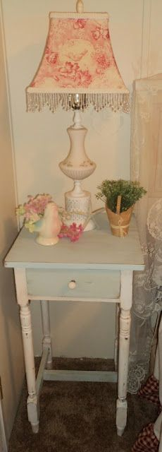 My homemade chalk paint nightstand