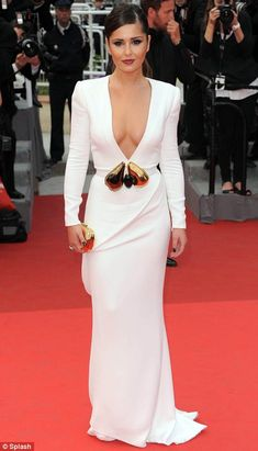 Boob job revealed: It is reported that Cheryl Cole achieved her pert Cannes appearance using a new 'latticework' taping technique Cheryl Ann Tweedy, Kiss Beauty, Celebrity Stars, Iconic Dresses, Cheryl Cole, Beautiful Celebrities, Beautiful Women, Editorial Fashion, Evening Dresses