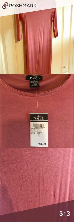 Rue 21 Long Rose/Mauve Dress This dress is NWT, size large. It's a gorgeous dusty rose/mauve color. Rue 21 Dresses