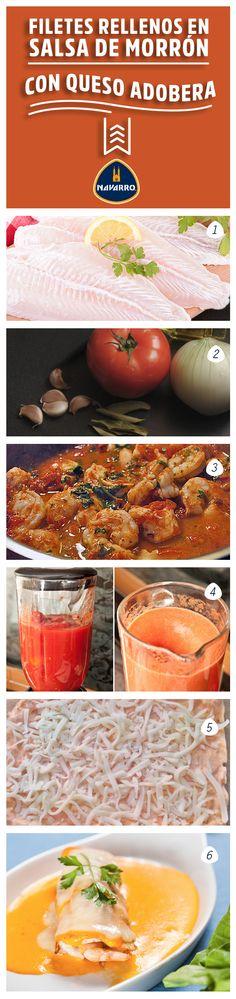 La recomendación para el final de Cuaresma; Filetes Rellenos en Salsa de Morrón con Queso Adobera NAVARRO