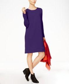Eileen Fisher Stretch Jersey Surplice Dress, Regular & Petite - Purple XL