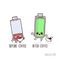 """Adorably Funny """"Before and After"""" Illustrations That Are Oddly Relatable - At work - Cute Cartoon Drawings by Nacho Diaz Arjona - Cute Puns, Funny Puns, Funny Cartoons, Funny Art, Funny Quotes, Hilarious, Funny Humor, Cute Cartoon Drawings, Kawaii Drawings"""