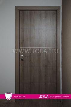 Diósd dekorfoliás fémintarziás beltéri ajtó