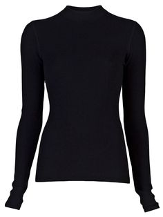 $195 T by Alexander Wang Black Thermal Pullover #longsleeve #thermal http://roanshop.com/womens-clothing/t-by-alexander-wang-black-thermal-pullover.html