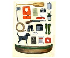 Labor Day Camping Trip Print by HailTiger on Etsy, $28.00 For Julian's room