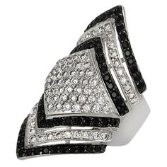 Journee Collection Sterling Silver Cubic Zirconia Contemporary Ring (Size ) Women's