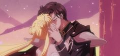 Princess Serenity and Prince Endymion kiss in the Past