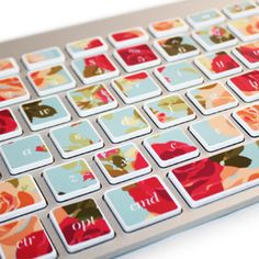 Macbook floral keyboard stickers to buy. (If I had a macbook)