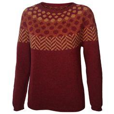 Søster Nina pattern by Hanne Larsen Strik Knitting Machine Patterns, Knitting Patterns, Fair Isle Knitting, Hand Knitting, Men Sweater, Sweater Cardigan, Crochet Fashion, Facon, Bunt