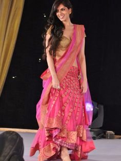 Nishka Lulla: Designer Nishka Lulla looked nice in a pink lehenga.