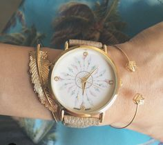 Watch woman trend and gift idea woman Bijoux Design, Jewelry Design, Girls Accessories, Jewelry Accessories, Hand Wrist, Stylish Watches, Trendy Jewelry, Beautiful Watches, Fashion Watches