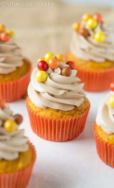 Pumpkin Maple Cupcakes