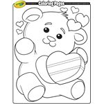 Sweet Valentine's Day coloring pages for children at Crayola
