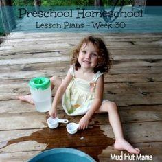 Mud Hut Mama, posts her homeschool preschool curriculum for each weeks (will be 36 weeks total.)