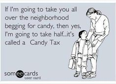 "I sure remember these days! My husbands favorite handing out candy - our daughter counting her candy and organizing it in category - I think I remember sneaking a ""tax"" piece here and there or ""negotiating"" with my daughter!  Wonderful happy memories! Thank you Ashlee"