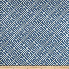 Screen-printed on textured (similar to bark cloth) cotton fabric, this versatile medium weight fabric is perfect for window treatments (draperies, valances, curtains and swags), accent pillows, duvet covers, upholstery and tote bags. Colors include grey, white and blue.