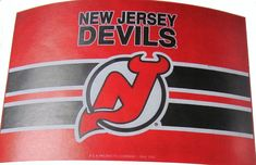 "New Jersey Devils 24 X 36 "" welcome mat"