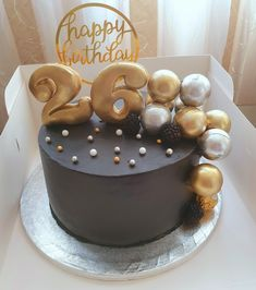 Black And Gold Cake, Cakes, Desserts, Food, Tailgate Desserts, Deserts, Cake Makers, Kuchen, Essen