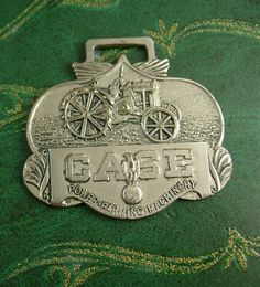 This fob shows a steel-wheeled tractor with Case logo on front and back of fob has company and product information. According to the back it