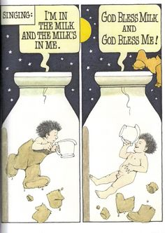 In The Night Kitchen by Maurice Sendak: getting milk the Mickey way