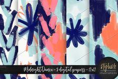 Pattern Digital Paper by Stylish Illustrations on @creativemarket