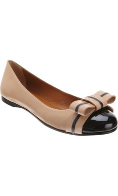 Fendi Bow Ballet Flat.  The most perfect preppy ballet flat.  This would be your workhorse--dress it up for work with a pencil skirt and a cardigan, and then down on the weekend with skinny jeans and an oversized sweater.