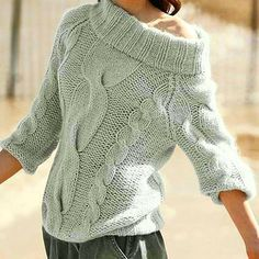 Hand Knit Women's boat neck sweater hand knitted women's sweater cardigan pullover women's clothing handmade turtleneck crewneck v-neck Cardigan Sweaters For Women, Cable Knit Sweaters, Sweater Cardigan, Women's Sweaters, Hand Knitting, Knitting Patterns, Handgestrickte Pullover, Mohair Sweater, Mode Outfits