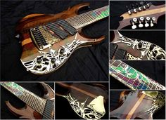 Etherial Guitars 9 string custom build  Emg pickups 909X set Kahler tremolo with custom fitted graphtech piezo's