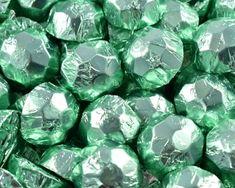 A bulk Foiled Chocolate Diamonds Ice Green Box.